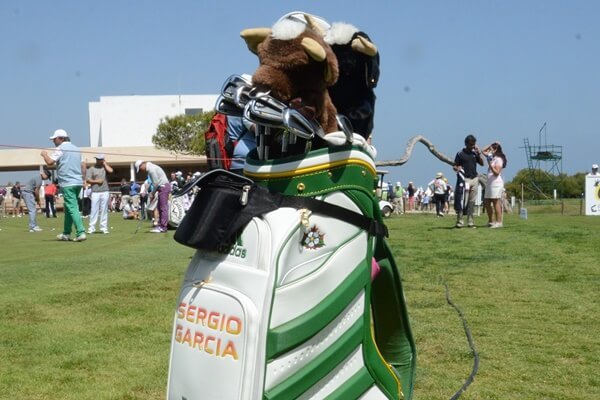Bolsa de palos de Sergio García durante el Open de España en El Saler. Foto: OpenGolf
