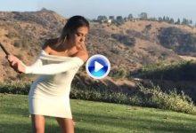 Sylvester Stallone retó a su hija a que le demostrara su swing… y salió trasquilado (VÍDEO)