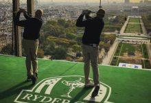 Bjorn y Furyk animan la cuenta atrás para la Ryder de París con un emotivo golpe desde la Torre Eiffel