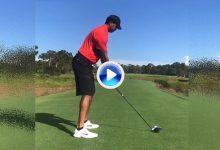 Tiger Woods ya practica todos los palos de la bolsa tal y como muestra en las Redes Sociales (VÍDEO)