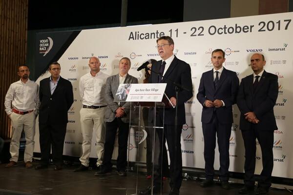 Ximo Puig en su alocución durante la inauguración de la Volvo Ocean Race 2017