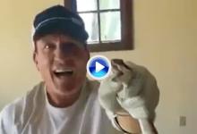 Un ex jugador de hockey utilizó sus palos para inmovilizar a una serpiente de cascabel (VÍDEO)