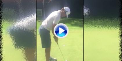 ¡No pares! Rafa demostró su exquisito toque en el green embocando 27 putts seguidos (VÍDEO)