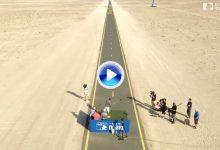 Nuevo reto del Tour ¿Se puede coger una calle de 1,80 de ancho desde 300 m. en el desierto? (VÍDEO)