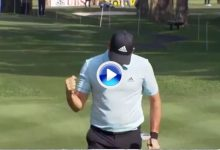 El Golf es duro… y agradecido. Error de Sergio García subsanado con un grandísimo chip (VÍDEO)