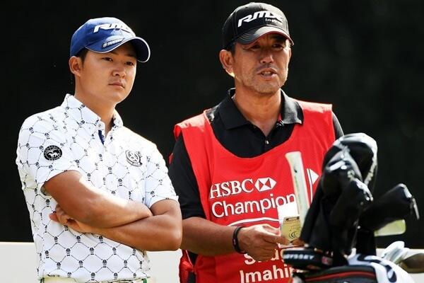 Shugo Imahira durante el HSBC Champions donde jugó las dos primeras rondas antes de ser descalificado. Foto: @Golf_2_Win