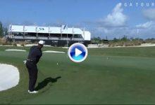 El Golf es duro… Tiger falló el chip y necesitó de tres putts en el hoyo más fácil del campo (VÍDEO)