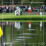16 McIlroy jugando con el agua en Augusta