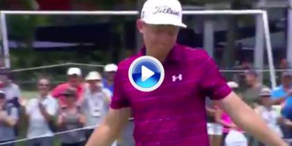 Smith convirtió este lejano putt después de que la bandera llevara su bola casi fuera del green (VÍDEO)