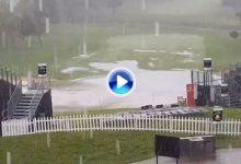 De esta forma caía la lluvia en el Joburg Open que provocó la suspensión hasta el lunes (VÍDEO)