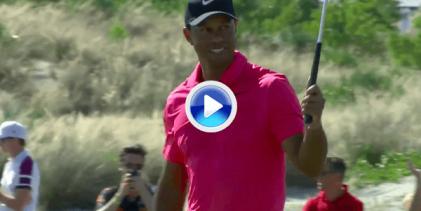 """Disfruten con los 5 mejores golpes del regreso de Tiger a la competición en solo 120"""" (VÍDEO)"""