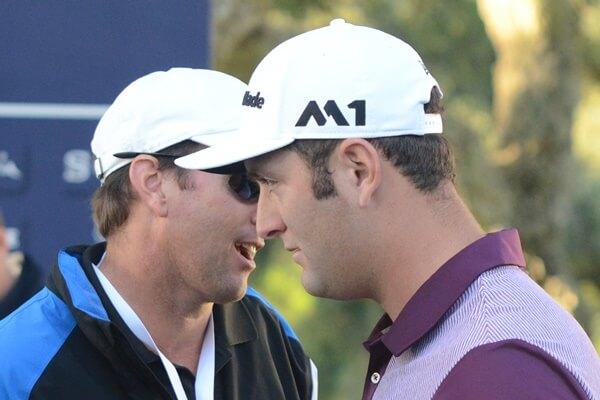 Tim Mickelson y Jon Rahm durante el pasado Andalucía Masters. Foto OpenGolf.es