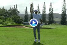 ¡Bang! Dustin Johnson logró uno de los golpes de la semana en el PGA con un eagle desde 69 m. (VÍDEO)
