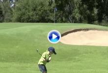 Isaac Riches, el niño prodigio del Golf, nos muestra cómo realizar un Flop Shot perfecto (VÍDEO)