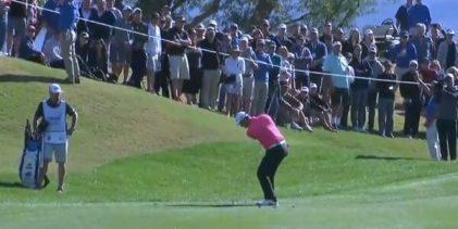 VÍDEO: Jon Rahm volvió a mostrar, en California, la magia que atesora con este approach desde 64 mts.