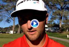 Rahm: «Ha sido duro, no recuerdo el último fin de semana que hice +8. No estaba preparado» (VÍDEO)
