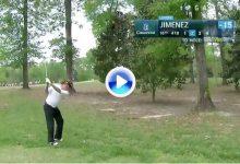 Este tirazo de Jiménez entre los árboles recordando a Seve, entre los mejores del año en el Tour (VÍDEO)