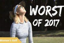 VÍDEO: Estos fueron los 15 peores golpes del 2017 en la LPGA. Wie, Lexi y Recari entre las golfistas