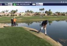 VÍDEO: El Golf es duro… incluso si te llamas Phil, así fue la «Mickelsonada» del zurdo en el hoyo 15