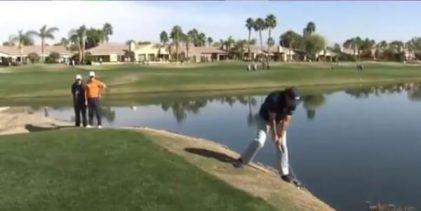 """VÍDEO: El Golf es duro… incluso si te llamas Phil, así fue la """"Mickelsonada"""" del zurdo en el hoyo 15"""