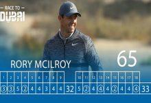 VÍDEO: La gran primera ronda de Rory McIlroy (65) en el Dubai Desert Classic en apenas 120 segundos