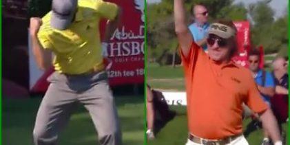 VÍDEO: Dos Hoyos en Uno de Sergio y Jiménez, entre los 10 mejores golpes en la historia de Abu Dhabi