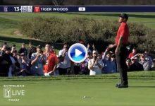 Un fan fue expulsado del campo en el Farmers después de que Tiger fallara un putt (VÍDEO)