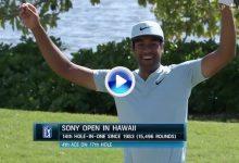 Este fantástico y perfecto Hoyo en Uno de Finau fue el mejor golpe del día en el Sony Open (VÍDEO)