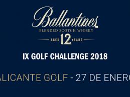 El Ballantine's Golf Challenge regresa a Alicante Golf, será el viernes 26 y sábado 27 de enero