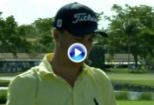 ¡Uyyy! Thomas jugó con las piedras en el hoyo 5 del PGA National y estuvo muy cerca del Ace (VÍDEO)
