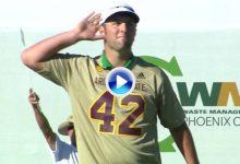 Jon Rahmbo puso patas arriba el coliseo del golf mundial con este grandísimo birdie (VÍDEO)