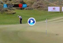 Jorge Campillo: ¡chip y dentro! el extremeño volvió a lucirse con este golpe en el 8 de Oman (VÍDEO)