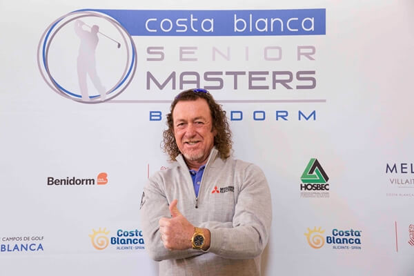 Miguel Ángel Jiménez durante la presentación en Benidorm