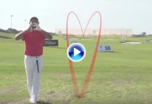 Larrazábal y el European Tour felicitaron San Valentín con un corazón de lo más especial (VÍDEO)