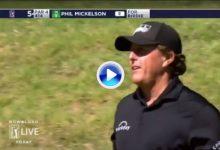 El Golf es duro… Incluso para el bueno de Lefty. La bola se le quedó colgando tras un gran putt (VÍDEO)