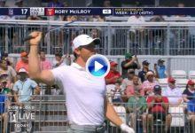 El Golf es duro… Rory salió del 17 (par 3) con un 7 tras dos bolas al agua y 3 tiros desde el tee (VÍDEO)
