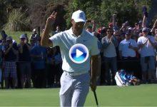 Tiger en su mejor versión, Rory, DJ, G-Mac, autores de los mejores golpes en Riviera en su 2ªJ. (VÍDEO)