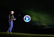 La aurora boreal permite a los golfistas de este campo de Noruega aprovechar la noche (VÍDEO)