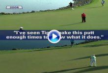 Rory tenía bien estudiado el putt de Tiger de 2008. Misma línea, misma fuerza… (VÍDEO Comparativa)