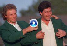 Las 5 Chaquetas Verdes: Olazábal demostró que era un digno sucesor de Seve en el Augusta National