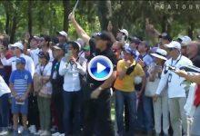 El mágico Flop Shot de Mickelson también viajó hasta México, una corbata evitó el eagle (VÍDEO)