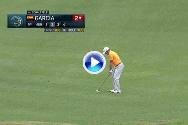 Espectacular approach de Sergio García. Dejó la bola dada después de un driver de 366 yds. (VÍDEO)
