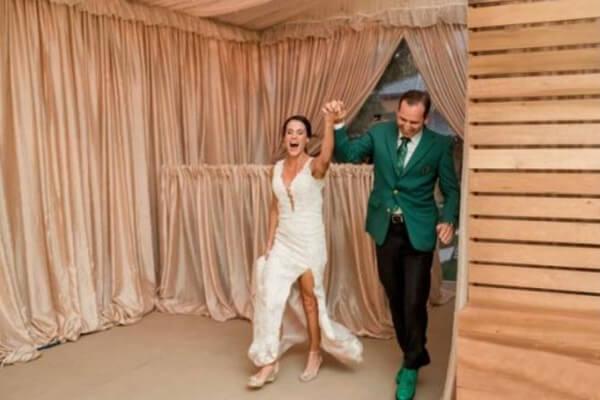 Sergio García durante su boda. Foto: Lindberg