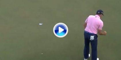 ¡Grande García! Sergio sacó el puño y toda su rabia con este putt ganador en el 18 ante Sharma (VÍDEO)