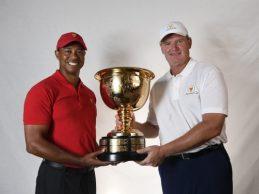 Woods y Ernie Els serán los capitanes de Estados Unidos y los Internacionales en la Presidents '19