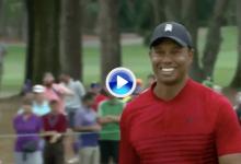 ¡Tigeeer! Woods se quedó al borde de la victoria tras este estratosférico puro desde 13,5 m. (VÍDEO)
