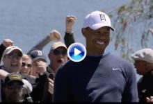 ¿Por qué los jugones sonríen igual? Tiger convirtió el golpe del día con este puro desde 22 m. (VÍDEO)
