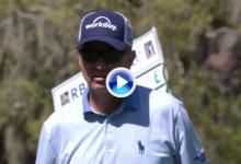El Golf es duro… Love III todavía se pregunta cómo pudo darle a la bandera sin que entrara (VÍDEO)