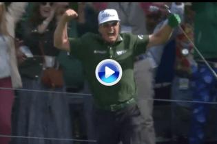Y por fin llegó el primer Hoyo en Uno del Masters de la mano de Hoffman. ¡Vaya celebración! (VÍDEO)
