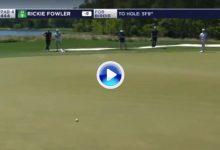 Rickie Fowler fue el autor de este impresionante putt, sin duda uno de los mejores del año (VÍDEO)